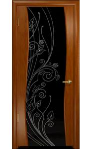 Дверь Арт Деко Вэла темный анегри ДО черный триплекс стразы