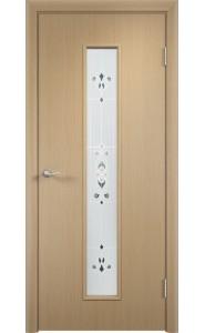 Дверь Верда С-21 Беленый дуб Художественное остекление Барокко