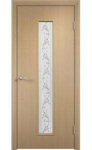Дверь Верда С-21 Беленый дуб Художественное остекление Вьюн