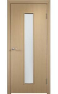 Дверь Верда С-21 Беленый дуб Стекло Сатинато