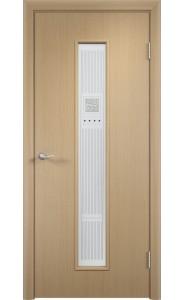 Дверь Верда С-21 Беленый дуб Художественное остекление Модерн