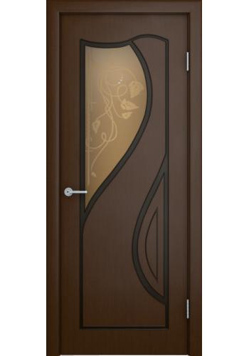 Дверь Верда Кармэн Шоколад Художественное стекло бронзовое со стразами