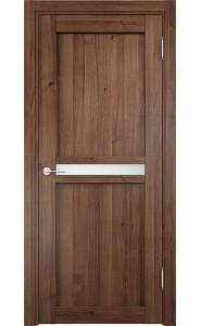 Дверь Верда Ливорно 01 Орех Стекло Сатинато Люкс
