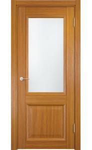 Дверь Верда Милан 07 Орех Мелинга Стекло Сатинато Люкс