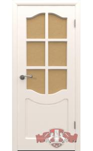 Дверь ВФД Классика 2ДР0 Белые Стекло