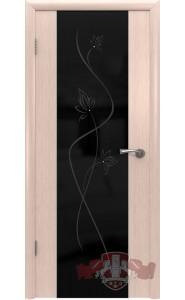 Дверь ВФД Рондо триплекс 8ДО5Ч Цветок Беленый дуб
