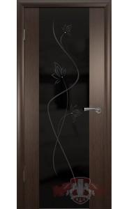 Дверь ВФД Рондо триплекс 8ДО4Ч Венге Цветок