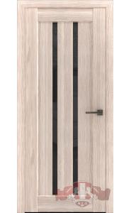 Дверь ВФД Лайн 2 Л2ПГ1 Капучино Стекло черное