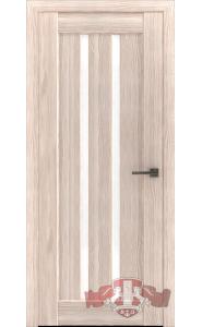 Дверь ВФД Лайн 2 Л2ПГ1 Капучино Стекло белое