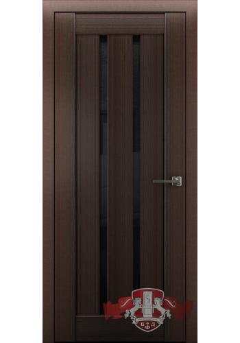 Дверь ВФД Лайн 2 Л2ПГ4 Венге Стекло черное