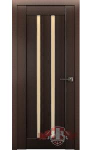 Дверь ВФД Лайн 2 Л2ПГ4 Венге Стекло бежевое
