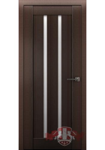 Дверь ВФД Лайн 2 Л2ПГ4 Венге Стекло белое