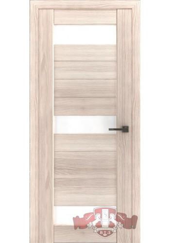 Дверь ВФД Лайн 5 Л5ПГ1 Капучино стекло Белое