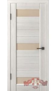 Дверь ВФД Лайн 5 Л5ПГ5 Беленый дуб стекло Бежевое