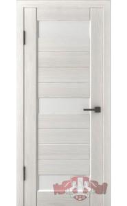 Дверь ВФД Лайн 5 Л5ПГ5 Беленый дуб стекло Белое