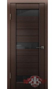 Дверь ВФД Лайн 5 Л5ПГ4 Венге стекло Черное