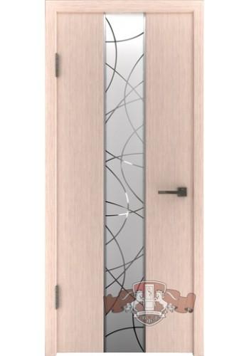 Дверь ВФД Токио 16ДО5 Беленый дуб Зеркало 1