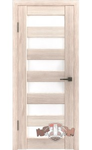 Дверь ВФД Лайн 7 Л7ПГ1 Капучино Белое стекло
