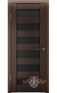 Дверь ВФД Лайн 7 Л7ПГ4 Венгге Черное стекло