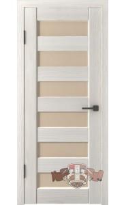 Дверь ВФД Лайн 7 Л7ПГ5 Беленый дуб Бежевое стекло