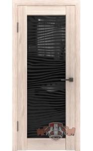 Дверь ВФД Лайн 8 Л8ПО1 Капучино Стекло зебра