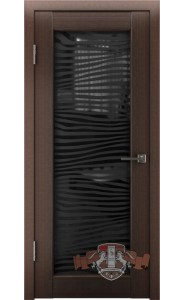 Дверь ВФД Лайн 8 Л8ПО4 Венге Стекло Зебра
