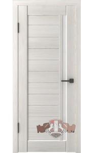Дверь ВФД Лайн 9 Л9ПГ5 Беленый дуб Белое стекло