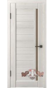 Дверь ВФД Лайн 9 Л9ПГ5 Беленый дуб Бронзовое стекло