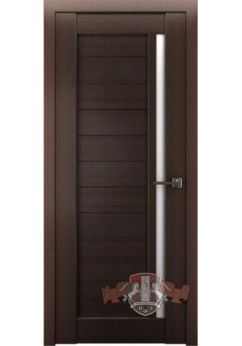 Дверь ВФД Лайн 9 Л9ПГ4 Венге Белое стекло