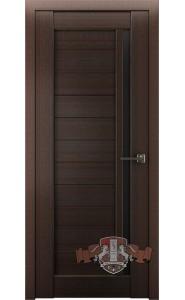 Дверь ВФД Лайн 9 Л9ПГ4 Венге Черное стекло