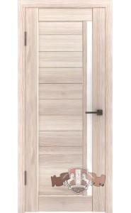 Дверь ВФД Лайн 9 Л9ПГ1 Капучино Белое стекло