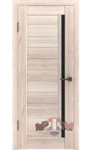Дверь ВФД Лайн 9 Л9ПГ1 Капучино Черное стекло