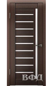 Дверь ВФД Лайн 11 Л11ПГ4 Венге Белое стекло
