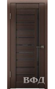 Дверь ВФД Лайн 11 Л11ПГ4 Венге Черное стекло