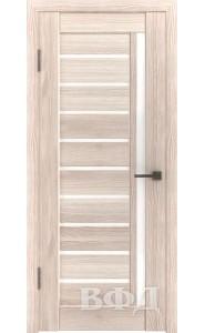 Дверь ВФД Лайн 11 Л11ПГ1 Капучино Белое стекло