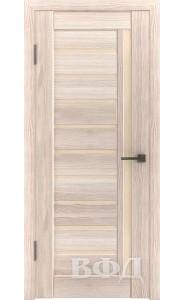 Дверь ВФД Лайн 11 Л11ПГ1 Капучино Бежевое стекло