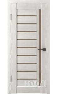 Дверь ВФД Лайн 11 Л11ПГ5 Беленый дуб Бронзовое стекло