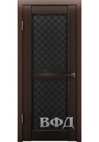 Дверь ВФД Лайн 12 Венге Темное стекло