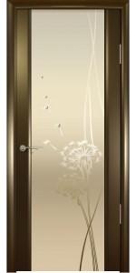 Дверь Океан Шторм 3 Венге Стекло светлое Одуванчик
