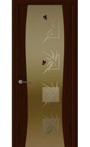 Дверь Океан Буревестник-2 Бабочки Ясень винтаж Стекло тонированное