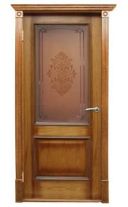Дверь Халес Версаль патина орех ДО