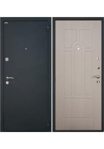 Дверь Интекрон Аттика Черная шагрень - Беленый дуб