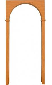 Арка Универсал миланский орех (толщина стены до 20см)