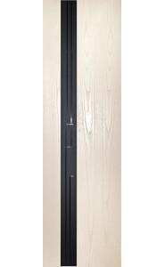 Дверь Дворецкий Лабиринт 1 Белый ясень черный триплекс ДО