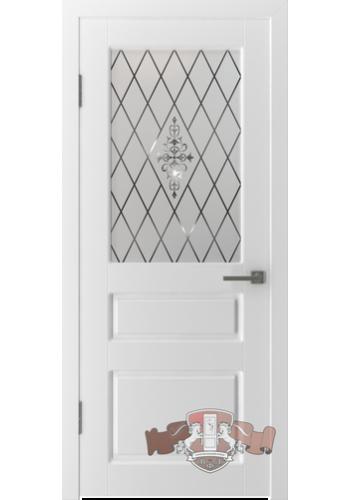 Дверь ВФД Честер 15ДО0 Белая эмаль