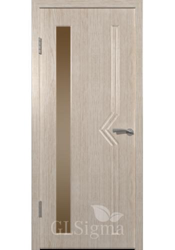 Дверь ВФД Сигма 62 Беленый дуб стекло Сатинат бронза