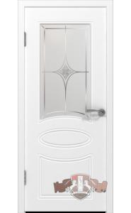 Дверь ВФД Олимп 21ДО0 Белая эмаль стекло Белое матированное