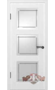 Дверь ВФД Трио 19ДО0 Белая эмаль