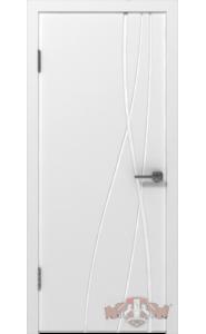 Дверь ВФД Авангард Т1 24ДГ0 Белая эмаль