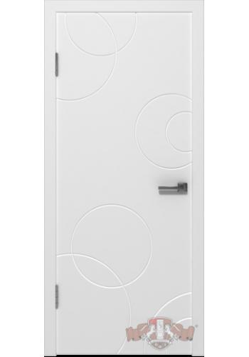Дверь ВФД Авангард К2 25ДГ0 Белая эмаль